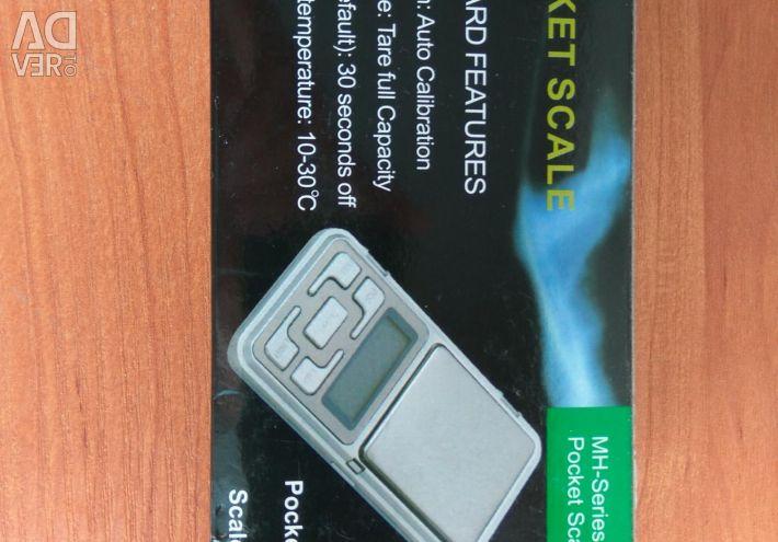Elektronik portatif teraziler MH 0.01-200gr + batar