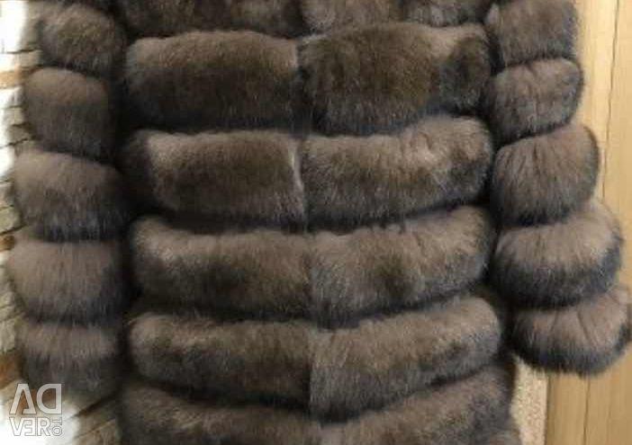 Noua haină de blană vulpea arctică sub. Sablerazmeo 46-48.50 lungime