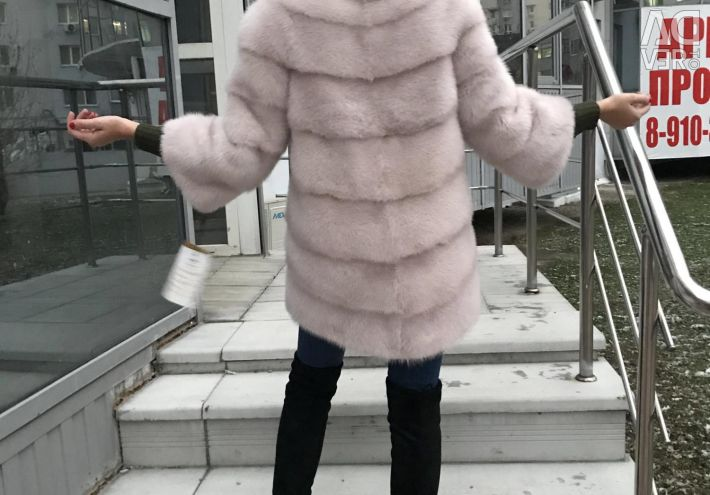 Шубка норковая 80см