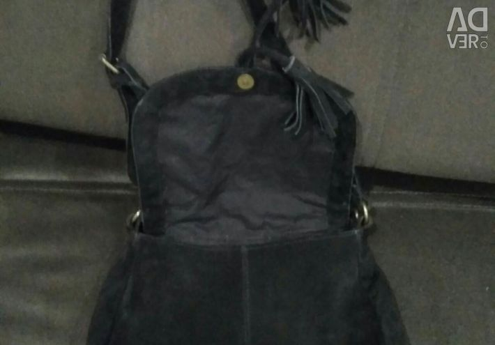 Doğal süet bayan çanta