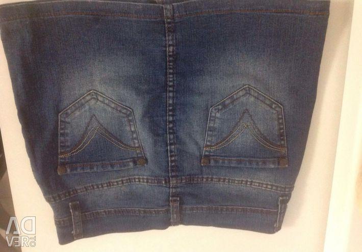 Skirt denim p 140-158 cm