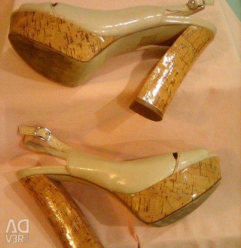 Leather sandals Blossem, river 38.5