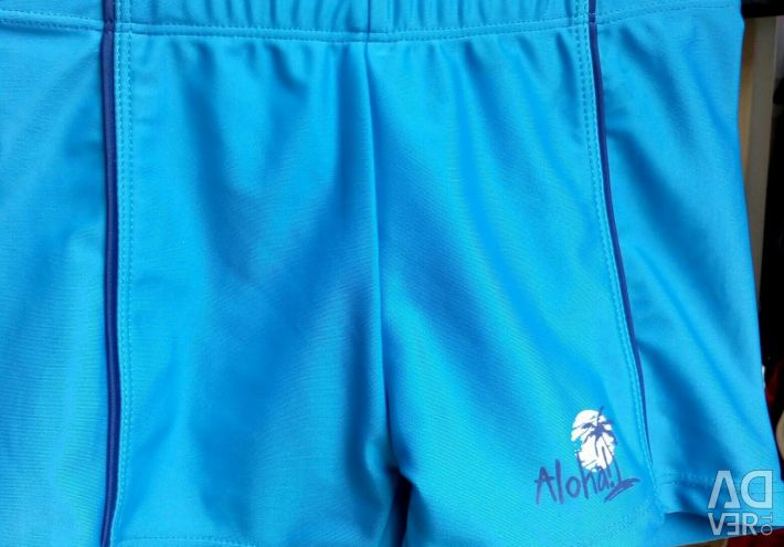 New children's shorts and swimming trunks