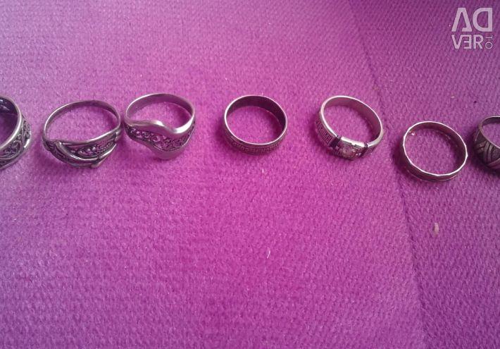 Ασήμι δαχτυλίδια