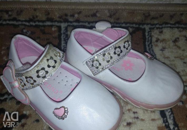 Shoes for a girl. Garden