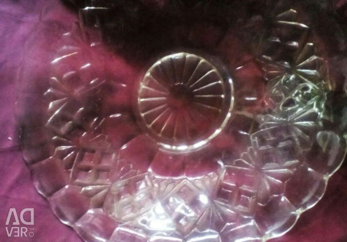Salad dish, pink, with a beautiful pattern