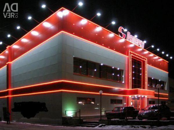 Bandă LED 220V SWGroup 14,4 W / m roșu