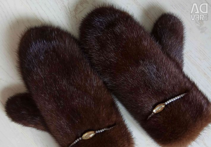 Mink gloves