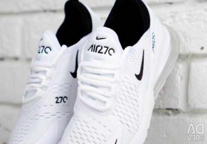 Nike Air Max 270 alb / negru / alb
