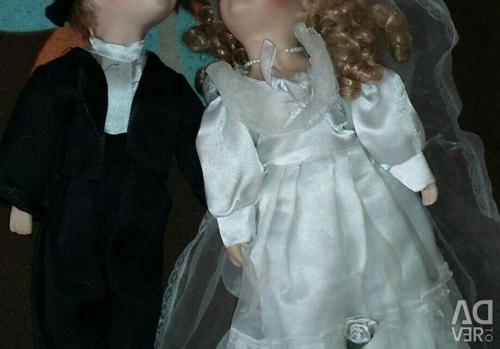 Porcelain. Wedding couple.