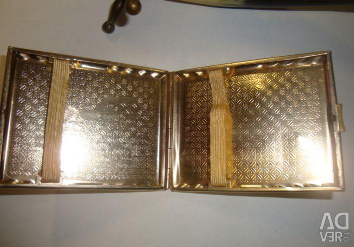 Cigarette case Novosibirsk / Horn natural USSR