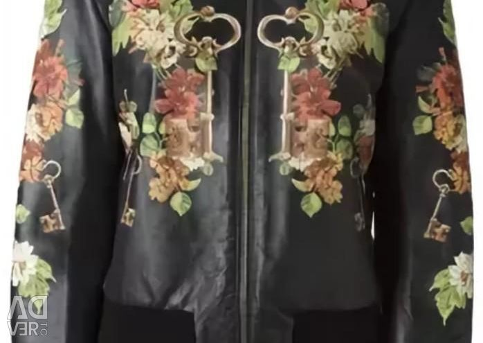DOLCE&GABBANA кожаная куртка р.44