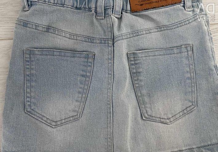 Denim skirt 98-116 cm