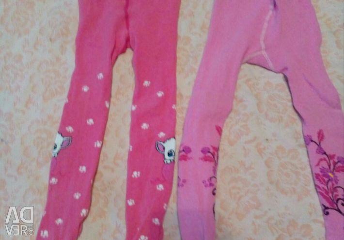 Dresses, tights