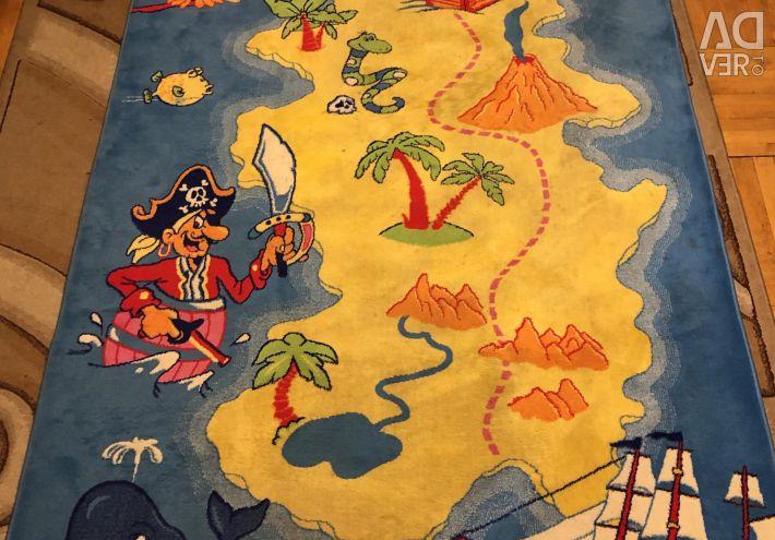 Ковeр великий дитячий Пірати