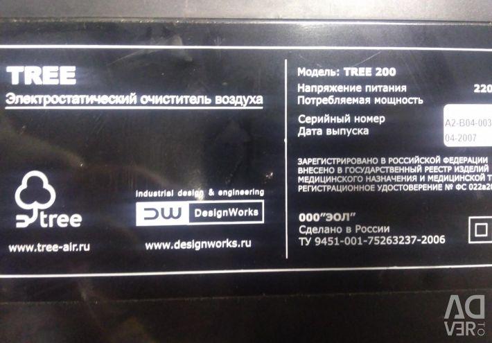 Χρησιμοποιημένος ηλεκτροστατικός καθαριστής αέρα δέντρων 200