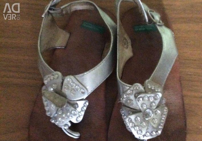 Sandals Benetton 30 size / 19,7cm insole