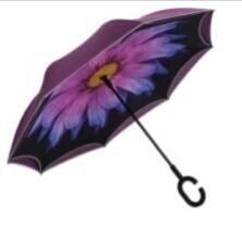 Umbrella reverse upbrella
