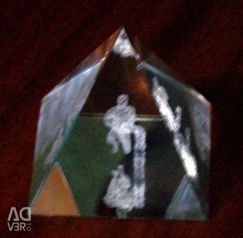 Pyramid with the voluminous zodiac sign Aquarius