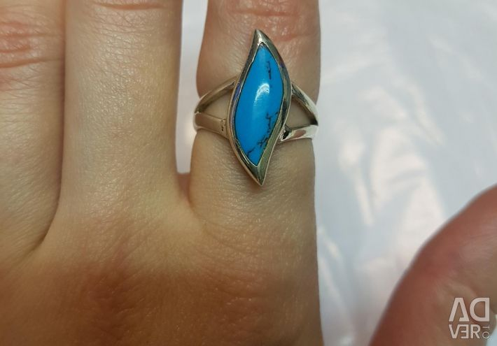 Ring with turquoise. Silver 925