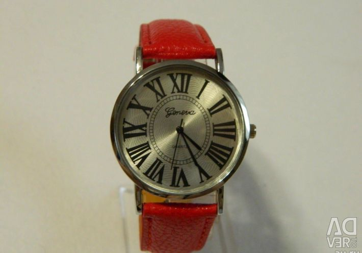 Geneva watches red, classic
