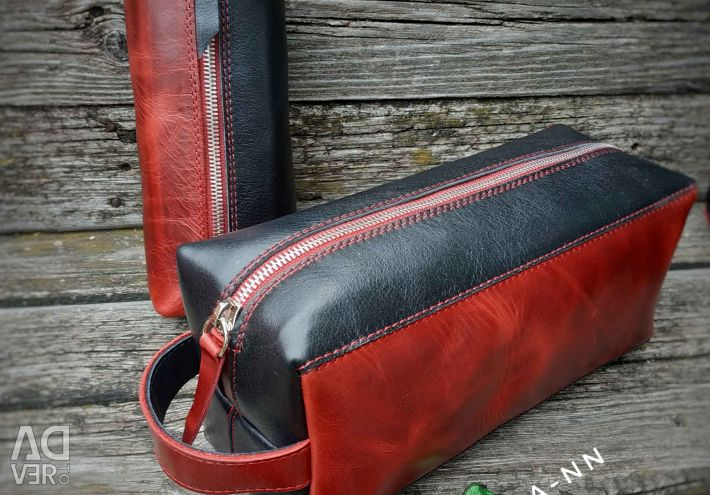 Handmade travel bag set