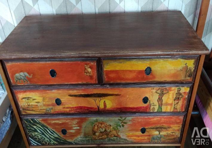 Dresser Africa, safari, decoupage