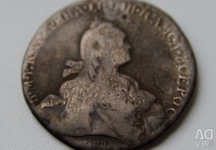 1 rubla 1766 SPB-TI-II, raritate R1 original
