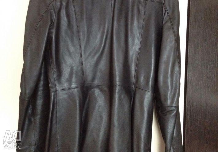 Leather jacket raincoat M