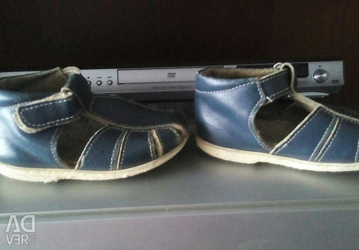 Sandals, leather, size 22