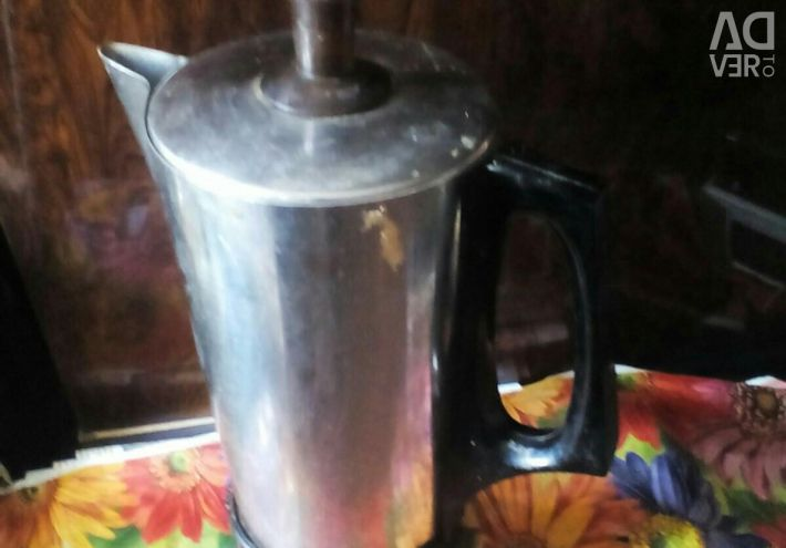 Coffee pot metal, new, imported!