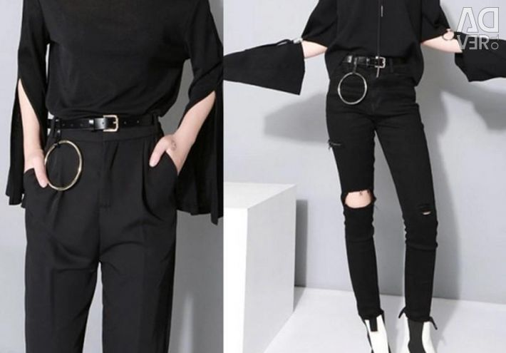 Trend belt with a ring
