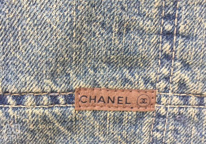 Джинсовий стьобаний палантин Chanel оригінал новий