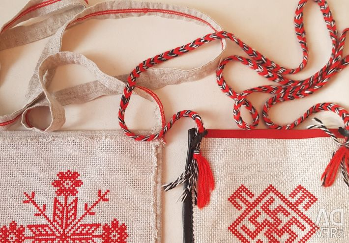 Canvas bag with embroidery