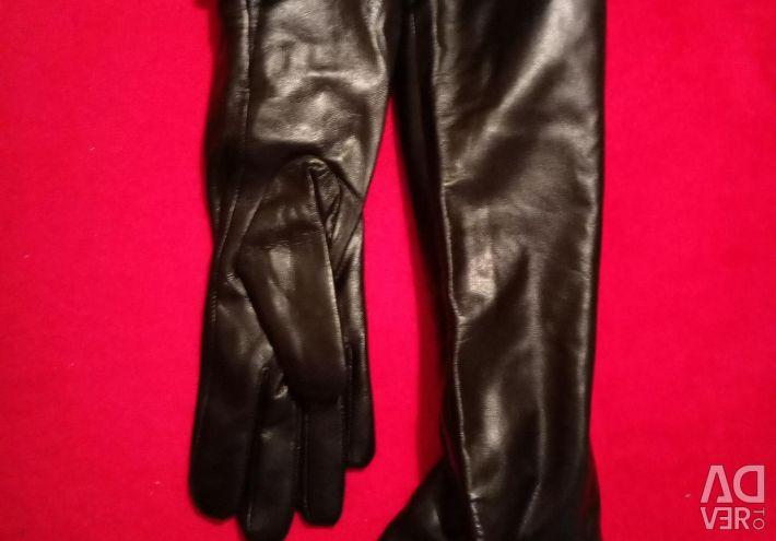 Δερμάτινα γάντια μακρύ