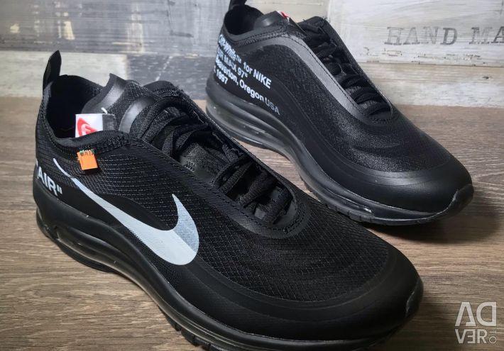 Pantofi pentru bărbați adidași Nike air max 97 OG de culoare albă