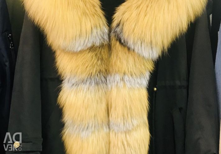 Parka νέα φυσική αλεπού επένδυση κουνέλι.