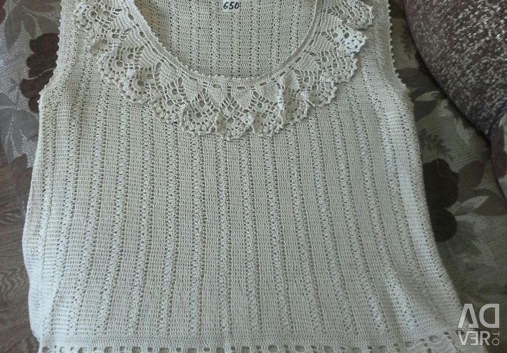 Knitted sweater, hand-made р.52-54