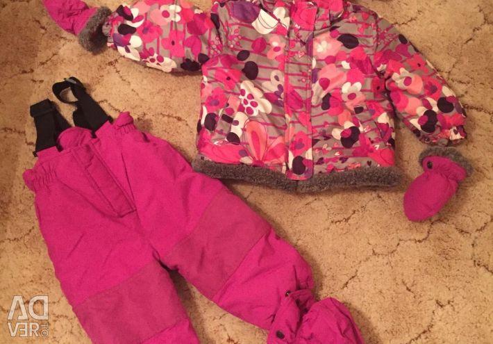 Sacou pentru copii + p / salopete + mănuși + cizme