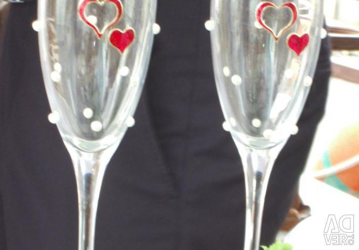 Decoratiuni de nunta, sticle, sticle