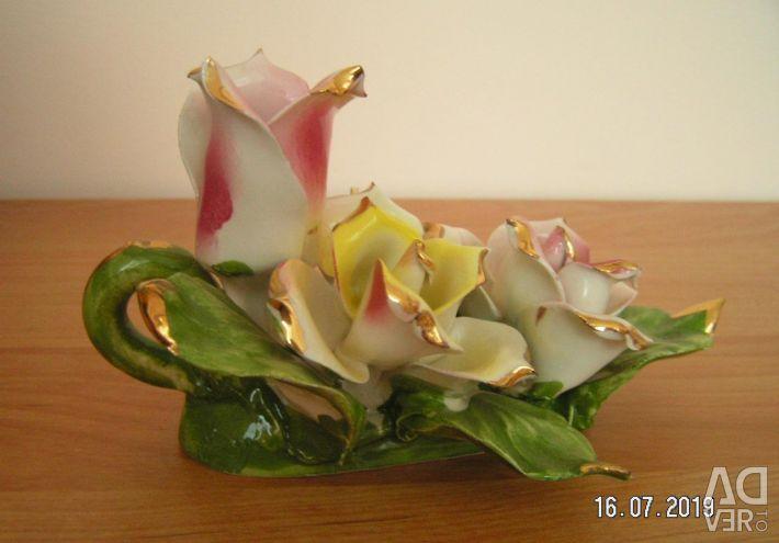 Κερί πορσελάνης με λουλούδια