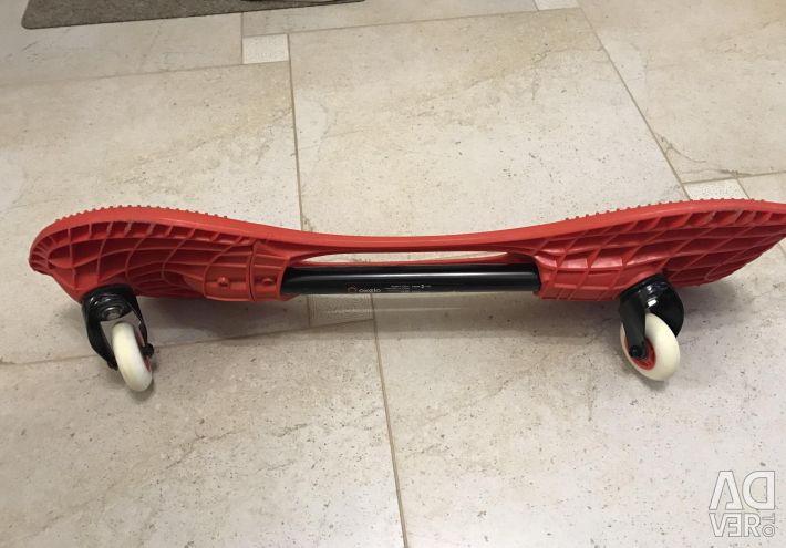 Two-skate skateboard