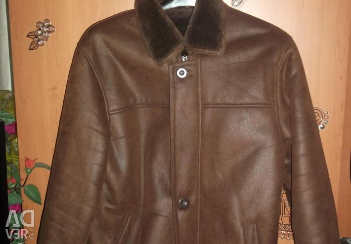 Sheepskin coat for men 48 size