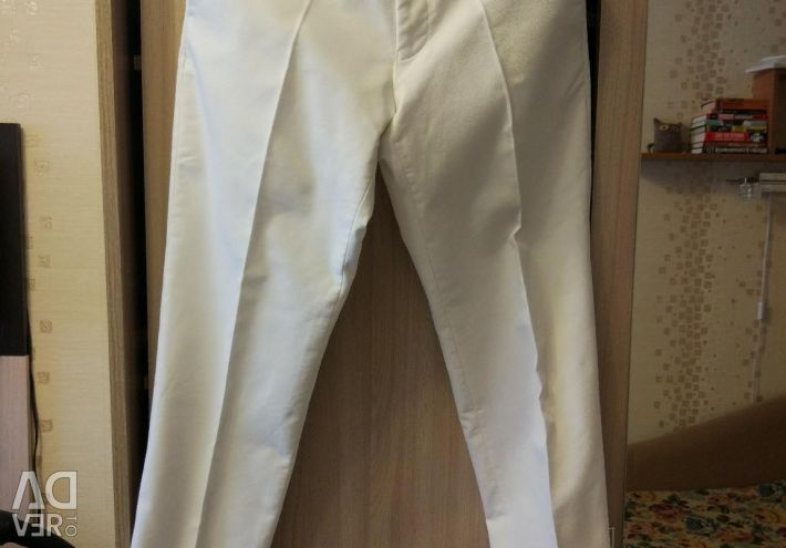 Classical pants, white