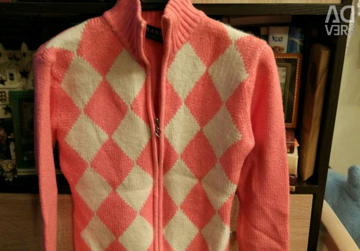 Cardigan, jacket with a zipper 42-44 size