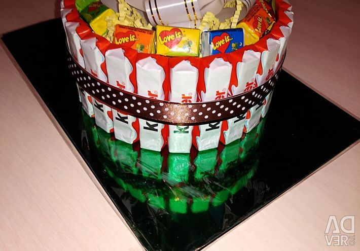 Cake from sweets for any holiday