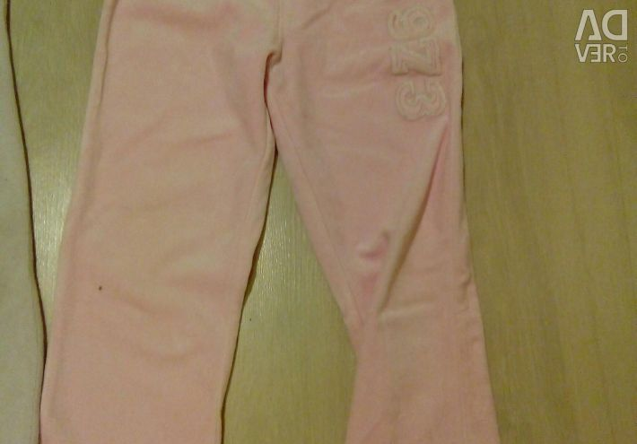 Velor trousers for 4 years