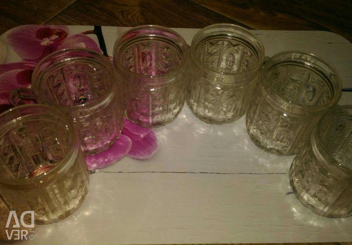 Set of crystal mugs