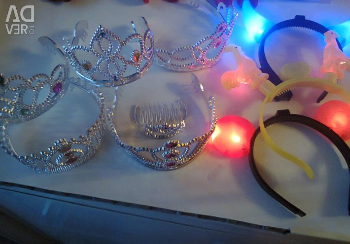 Crowns, glowing headbands