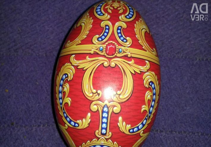 Tin egg container